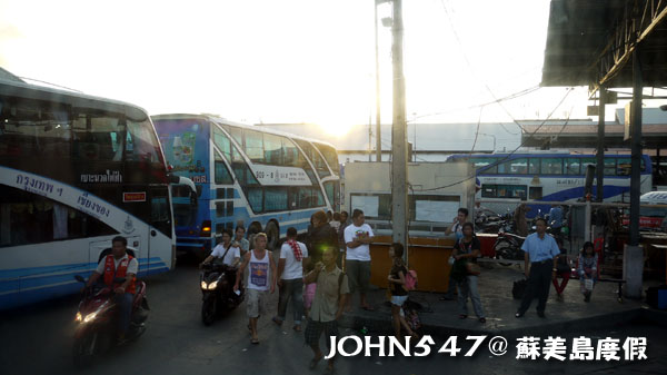 泰國蘇美島回曼谷巴士15曼谷北方巴士站蒙奇