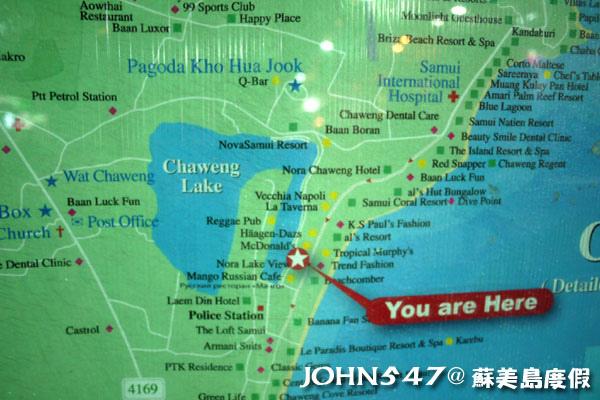 蘇美島Chaweng Walking Street Market查汶大街map.jpg