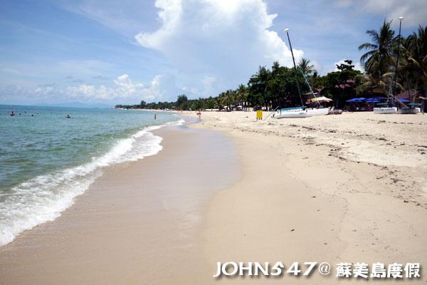 蘇美島騎機車環島6拉邁海灘 Lamai Beach7.jpg
