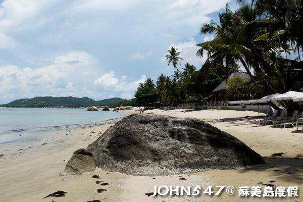 蘇美島騎機車環島7.Hua Thanon Beach 華塔儂海灘4.jpg