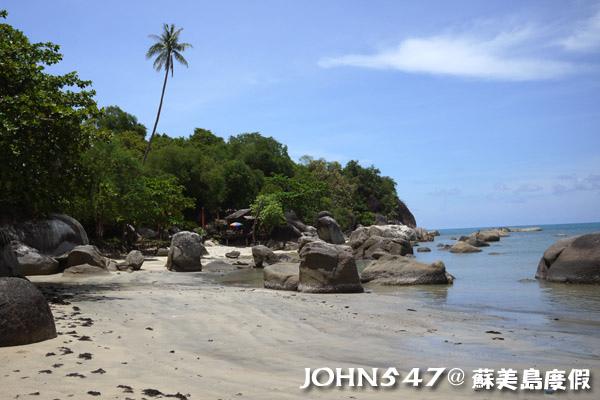 蘇美島騎機車環島7.Hua Thanon Beach 華塔儂海灘3.jpg