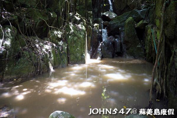 蘇美島騎機車環島9.Wang Sao Thong waterfall 瀑布3.jpg