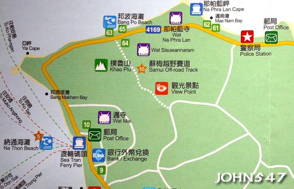 蘇美島自由行 下載地圖Ko Samui map2.西北區.jpg