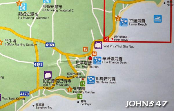 蘇美島自由行 下載地圖Ko Samui map5.東南區-拉邁海灘.jpg