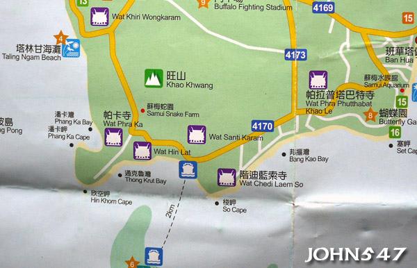 蘇美島自由行 下載地圖Ko Samui map6.南區.jpg