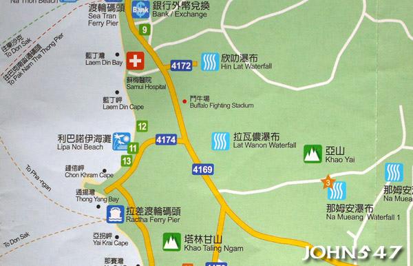 蘇美島自由行 下載地圖Ko Samui map7.西南區.jpg