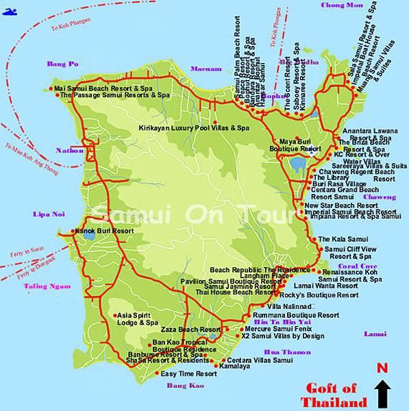 蘇美島住宿 飯店分佈圖Samui hotels map.jpg