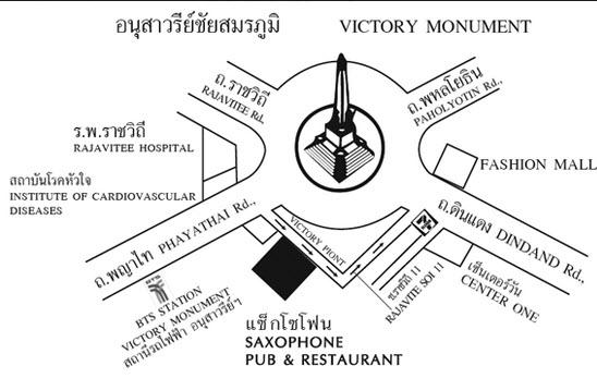 泰國曼谷 BTS 勝利紀念碑站 Victory Monument map