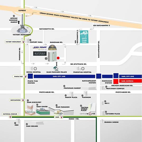 泰國曼谷 BTS 勝利紀念碑站 Victory Monument map5