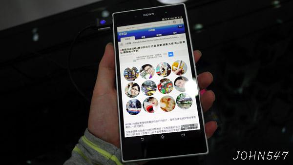 Sony Xperia Z Ultra 6.4吋螢幕Full HD旗艦手機 手持