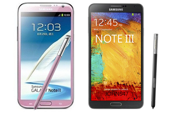 galxy-note3 VS galxy-note2