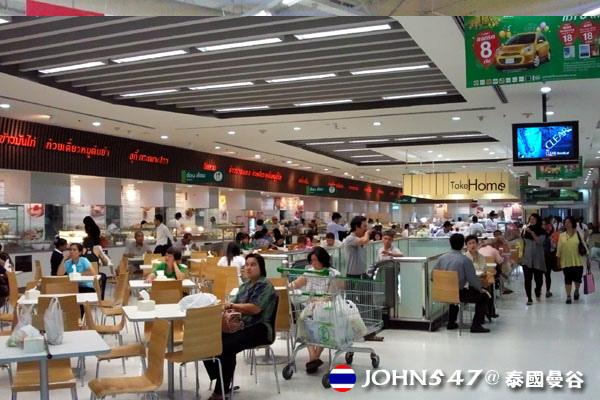 泰國曼谷Tesco Lotus連鎖大型超市 美食街.jpg