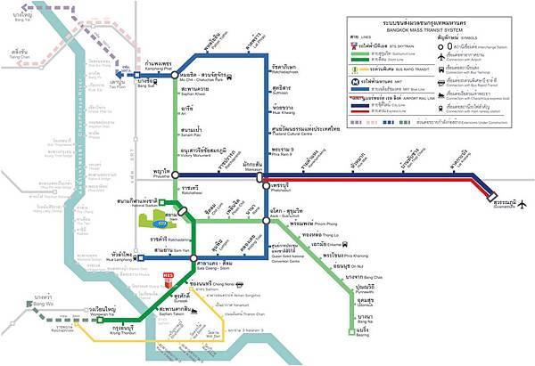 泰國捷運地圖 英文泰文站名