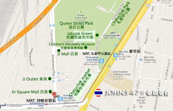 恰圖恰週末市集Chatuchak weekend market mo chit 蒙奇站購物地圖