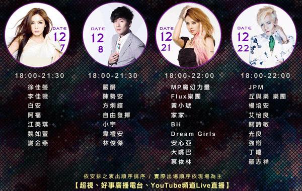 萬人集氣巨星璀璨–2013新北歡樂耶誕城巨星演唱會2