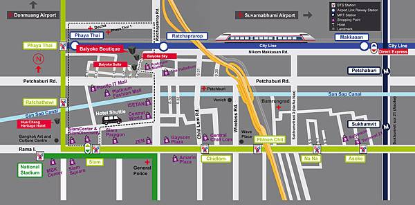 Baiyoke Sky Hotel Bangkok MAP