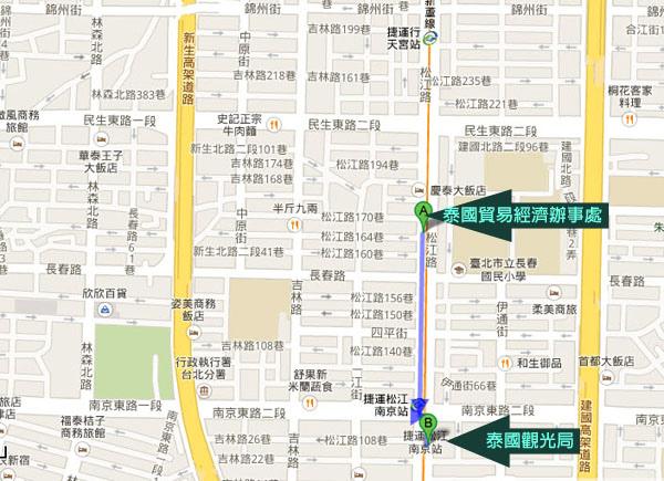 泰國貿易經濟辦事處與泰國觀光局MAP