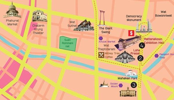 金山寺Wat Saket(Golden Mountain MAP