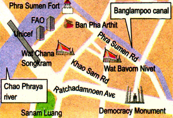 帕蘇梅砲台Phrasumen Fort map