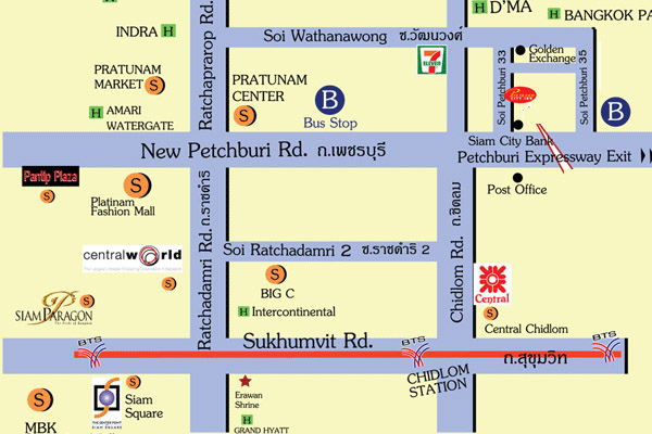 Pratunam Center MAP