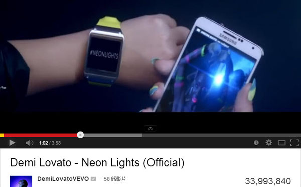 Demi Lovato - Neon Lights (Official) GALAXY GEAR NOTE3