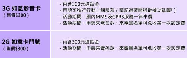 2014-3-20  預付卡 中華電信如意卡2