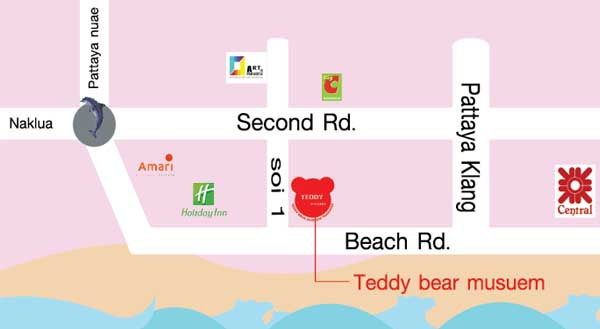 芭達雅泰迪熊博物館Teddy Island Thailand@pattaya MAP2.jpg