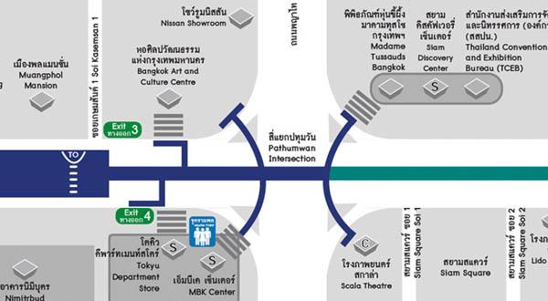 MBK Center購物商場TOKYU 東急百貨MAP