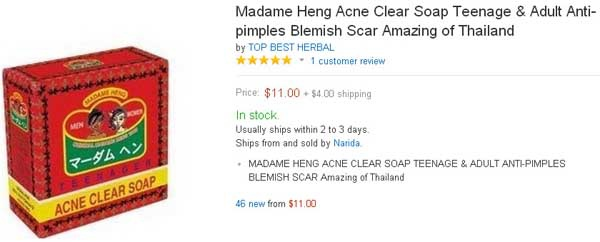 Madame Heng Acne Clear Soap Teenage & Adult Anti-pimples Blemish Scar Amazing of Thailand