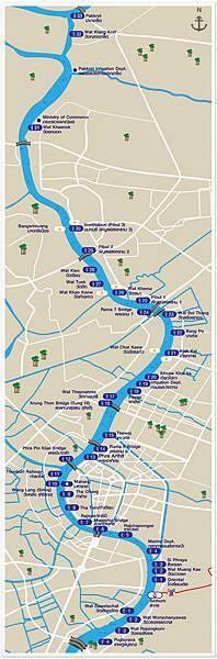Chao Phraya Express Boat昭披耶河遊船@Sathon pier沙吞碼頭-boat route.jpg