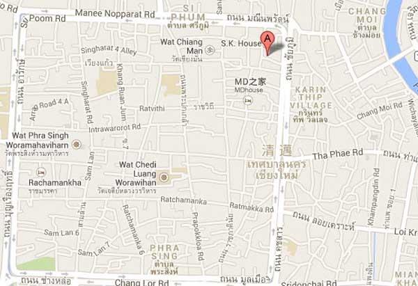 泰國清邁住宿 baan Hanibah納蘭風 MAP
