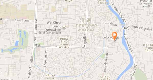 Lanna Thai Guesthouse 清邁蘭納泰旅館 map
