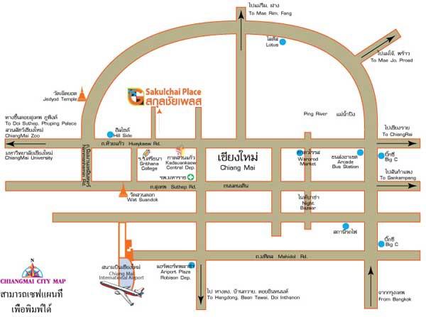 清邁 Sakulchai Place 薩庫查廣場酒店 map.jpg