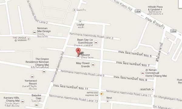 Misone Hotel 清邁米索內酒店 地圖MAP