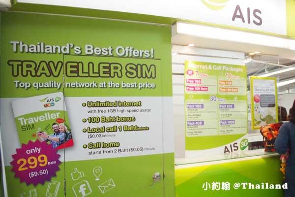 曼谷機場申辦AIS手機7日299無限上網sim卡2.jpg