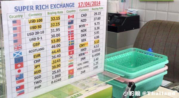 清邁SUPER RICH綠色 2014年4月匯率.jpg