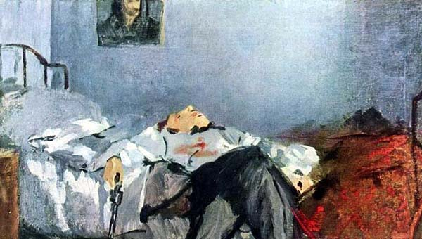The Suicide (The Suicided Man) Edouard_Manet