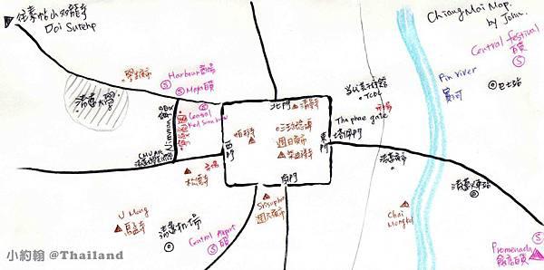 我的清邁手繪地圖 JOHN