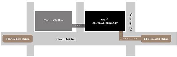 Central Embassy Central Chidlom MAP