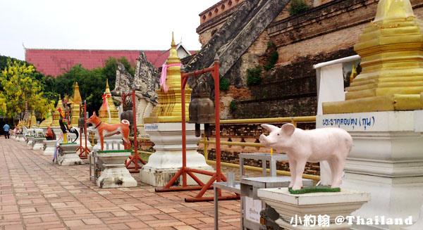 清邁自由行- Wat Chedi Luang Worawihan柴迪隆寺 12生肖.jpg