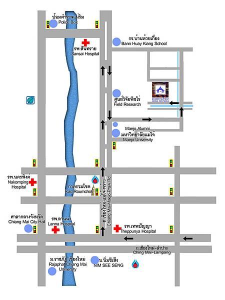 yeepeng lanna Direction Map