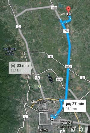 清邁萬人天燈節 Chiang Mai Yeepeng Lanna International 地圖 MAP