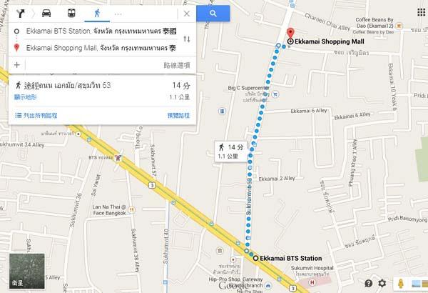 Ekkamai Shopping Mall,  MAP