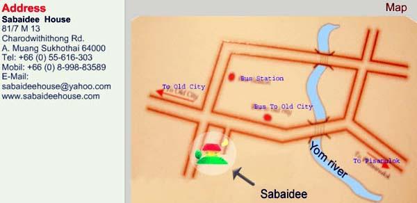 Sabaidee House 舒適之家飯店 MAP