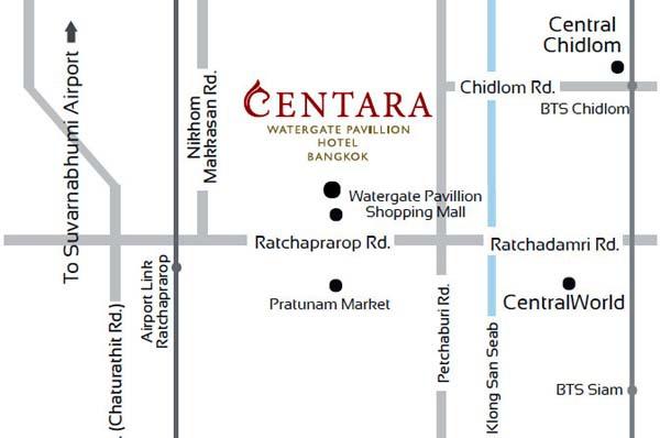 Centara_Watergate_Pavillion_Hotel_Bangkok_Map