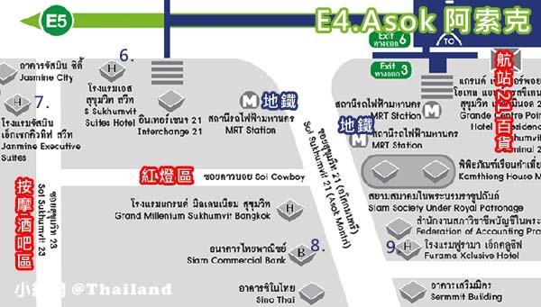 曼谷ASOK捷運交會飯店群MAP