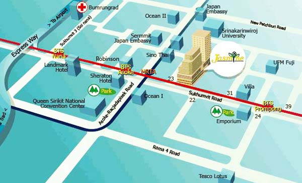 曼 Jasmine hotel 茉莉城市飯店MAP.jpg