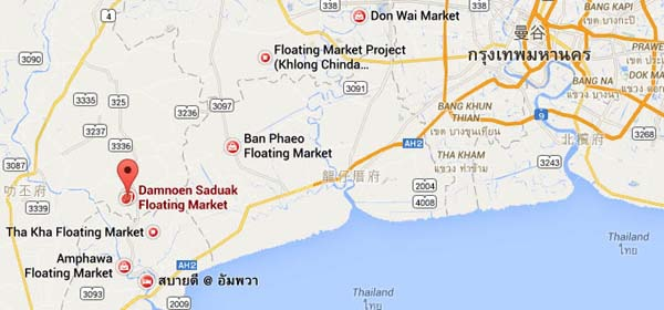 丹嫩莎朵水上市場 Damnoen Saduak Floating Market位置.jpg