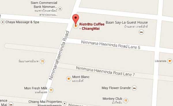 Ristr8to Coffee - ChiangMai MAP