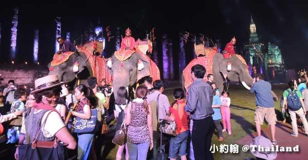素可泰水燈節Sukhothai Loi Krathong@素可泰歷史遺跡公園 大象